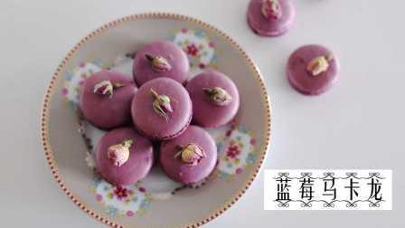 蓝莓马卡龙