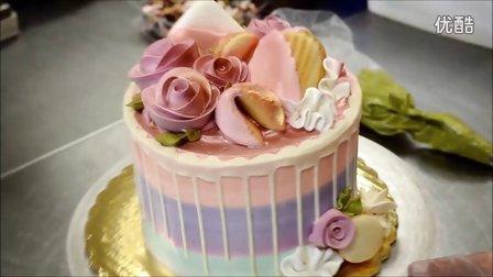 多彩生日蛋糕装饰教程