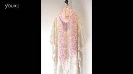 樱花成人女士围巾(下集)怎么织毛线编织法