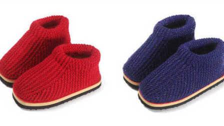 第一集零基础棉鞋教学视频宝宝毛线鞋编织教学视频详细步骤图解视频