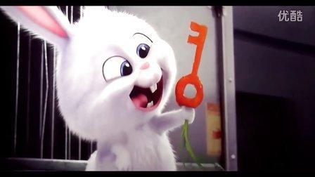 【爱宠大机密】超萌的兔子老大电影片段合辑