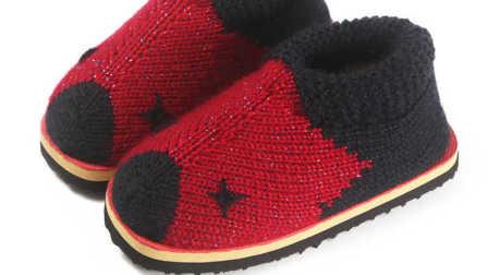 第五集 双色猪猪棉鞋教学视频毛线棉鞋编织视频教程手工毛线保暖棉鞋