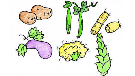 儿童简笔画 画各种漂亮的蔬菜