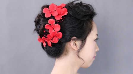 新娘敬酒服红装发型