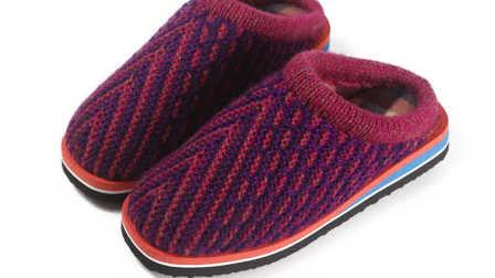 第八集双色情侣拖鞋教学视频毛线手工拖鞋编织视频粗毛线手工编织