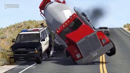 BeamNG模拟汽车卡车碰撞效果