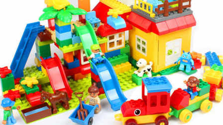 超级飞侠组装乐高积木游乐园滑滑梯 小猪佩奇小黄人粉红猪小妹 奥特曼 面包超人迪士尼 喜羊羊  熊出没海绵宝宝 猪猪侠
