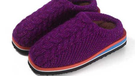 第十二集麻花拖鞋教学视频麻花款毛线拖鞋编织视频毛线编织步骤