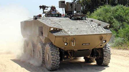 """测试中的以色列""""埃坦""""(Eitan)8X8 轮式装甲车"""