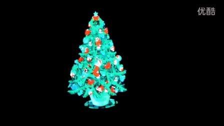 EF139 圣诞树 christmas tree 冷光片发光视频 声控发光衣服 冷光T恤 酒吧 慢摇吧 音乐 发光t恤