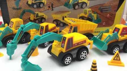超级飞侠玩转挖掘机铲车工程车玩具视频