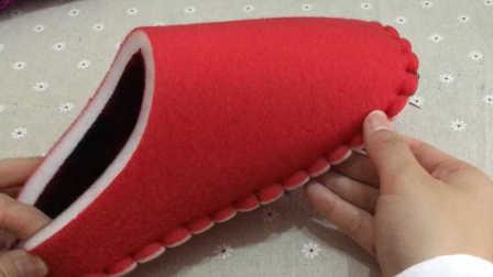 第十四集棉鞋拖鞋上鞋教学视频海绵内胆缝合视频毛线编织步骤