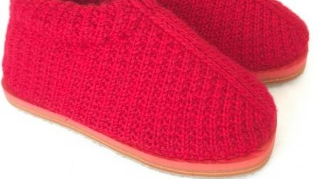 第十五集圈织中邦棉鞋教学视频超漂亮的手工钩织