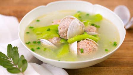 美食台 2020 第256集 丝瓜蛤蜊肉丸汤 256
