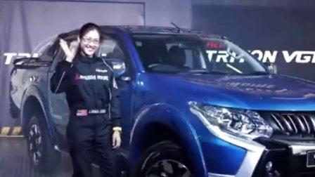 利念娜 Leona Chin 开幕大马三菱皮卡车最新出的太腾皮卡涡轮柴油汽车