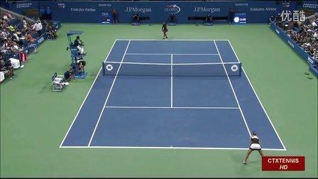 2016美国网球公开赛女单SF 小威廉姆斯VS普利斯科娃 (自制HL)
