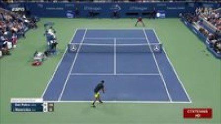 2016美国网球公开赛男单QF 瓦林卡VS德尔波特罗 (自制HL)