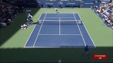 2016美国网球公开赛男单QF 穆雷VS锦织圭 (自制HL)