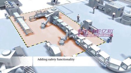 工业4.0智能工厂解决方案三维演示动画