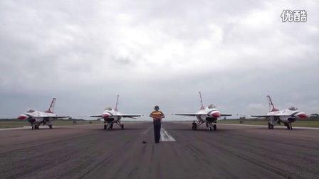 美国空军 雷鸟飞行表演队在内利斯的日常训练表演