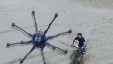 无人机滑水!一项新的水上运动开启了