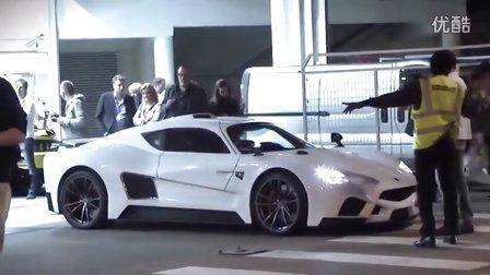 意大利超跑新贵Mazzanti Evantra V8发动机声浪震天
