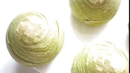抹茶莲蓉蛋黄酥 黄油版本 中式起酥点心 妞家烘焙