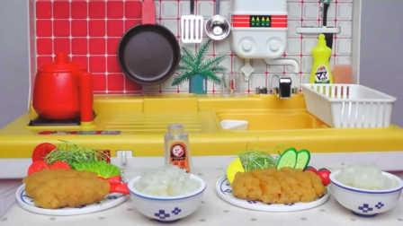 炸猪排饭-日本食玩-万代迷你厨房 043