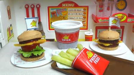 芝士汉堡-日本食玩-万代迷你厨房 045