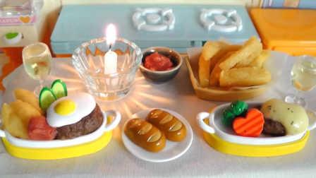 爱心汉堡牛排晚餐-日本食玩-万代迷你厨房 049