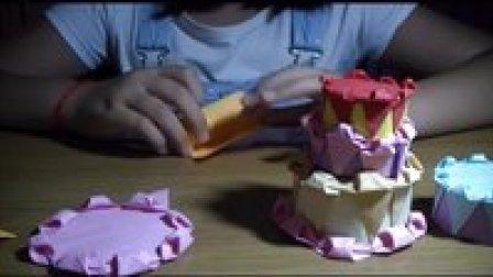 生日蛋糕折纸,超级漂亮!