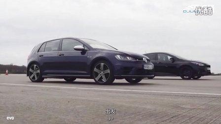 福特福克斯RS对比大众高尔夫R 哪个更快