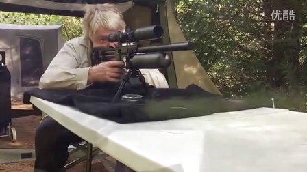 气枪pcpFX50米精度测试复点秃鹰减震快排B50战术气步枪pcp这精度复点瞄准镜消音器都是好货.