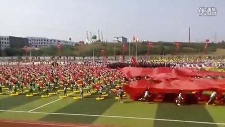 花环队形舞 内乡三小 第十五届中学生运动会开幕式