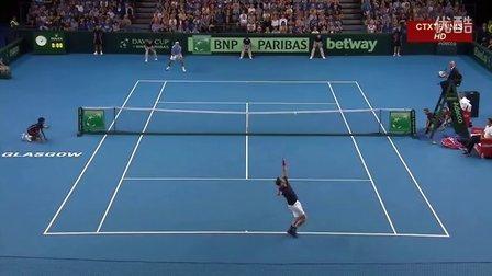 2016 Davis Cup 英国VS阿根廷 穆雷VS德尔波特罗 (自制HL)