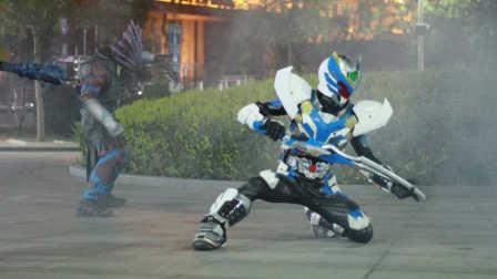 铠甲勇士拿瓦怒火 超级游戏猴解说 拿瓦怒火升级成暴风怒火 火力全开扫平一切魔王 次纳米小跟班