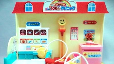 面包超人  面包工具车和身体检查玩具套餐