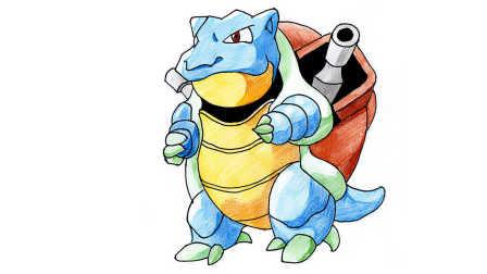 精灵宝可梦神奇宝贝:水箭龟简笔画 我的世界宠物大全