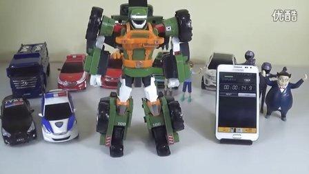 儿童玩具变形金刚 如何快速组装机器人?我看着时钟收集变压器 [迷你特工队之英雄的变形金刚]