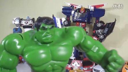 儿童玩具 最强战士PK迷你特工队  谁赢?  钢铁侠 绿巨人 汽车人 打开一个新的系列玩具!我的变形金刚玩具世界 [迷你特工队之英雄的变形金刚]