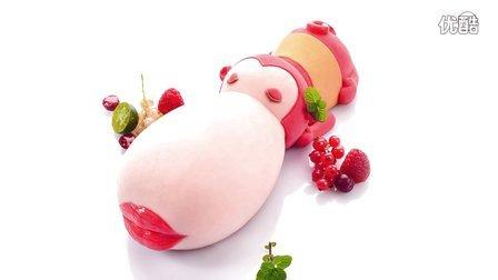 莫夫教室-卡通红唇大嘴猴创意蛋糕制作流程