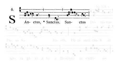 【Score】Gregorian Chant: Missa de Angelis § №4 Sanctus