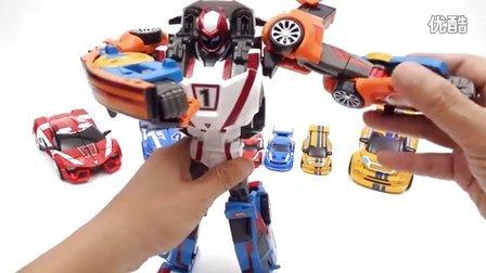机器人新速龙三冠军组合转型汽车 新的魔术玩具2016 我的变形金刚机器人世界 [迷你特工队之英雄的变形金刚]