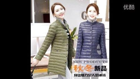 2016冬装女韩版中长款棉服加肥加大码女装胖mm轻薄羽绒服外套棉衣