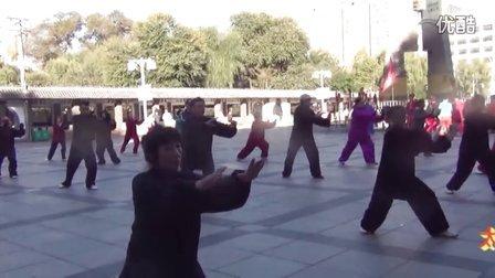 牡丹江市东安区武术协会庆十一王馨梅太极拳辅导站太极武术演练