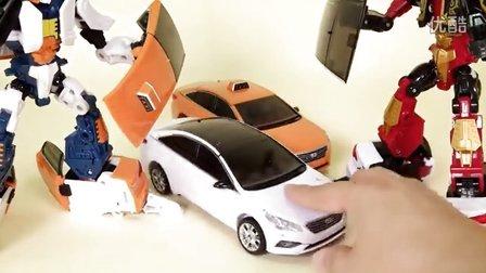 汽车人装配 你好卡博特和阿蒂阿蒂出租车4转型 儿童玩具 汽车人总动员 一系列新的2016年 [迷你特工队之英雄的变形金刚]