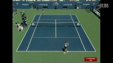 2007美国网球公开赛女单R3 莎拉波娃VS拉德万斯卡 (自制HL)