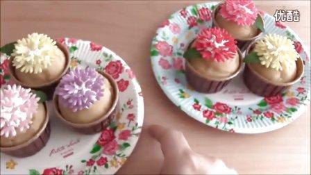 【食用系列】100日元制作鲜花芬麦蛋糕