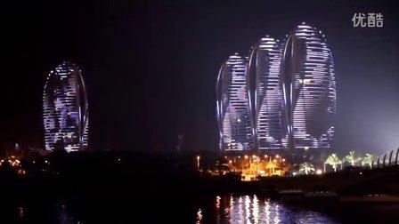 2014中華新聞記者協會參觀海南三亞鳳凰島美麗夜景