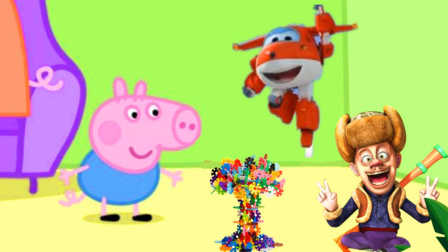 光头强砍了小猪佩奇家的树,超级飞侠帮忙夺回来!熊出没粉红猪小妹小黄人 迪士尼喜羊羊 熊出没海绵宝宝 猪猪侠 奥特曼 面包超人